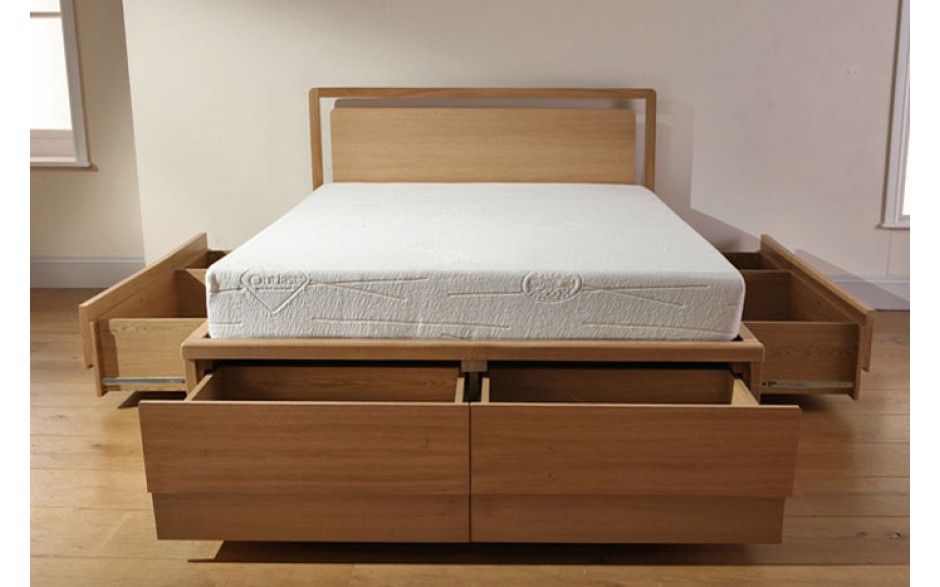 Image of: King Storage Beds Open