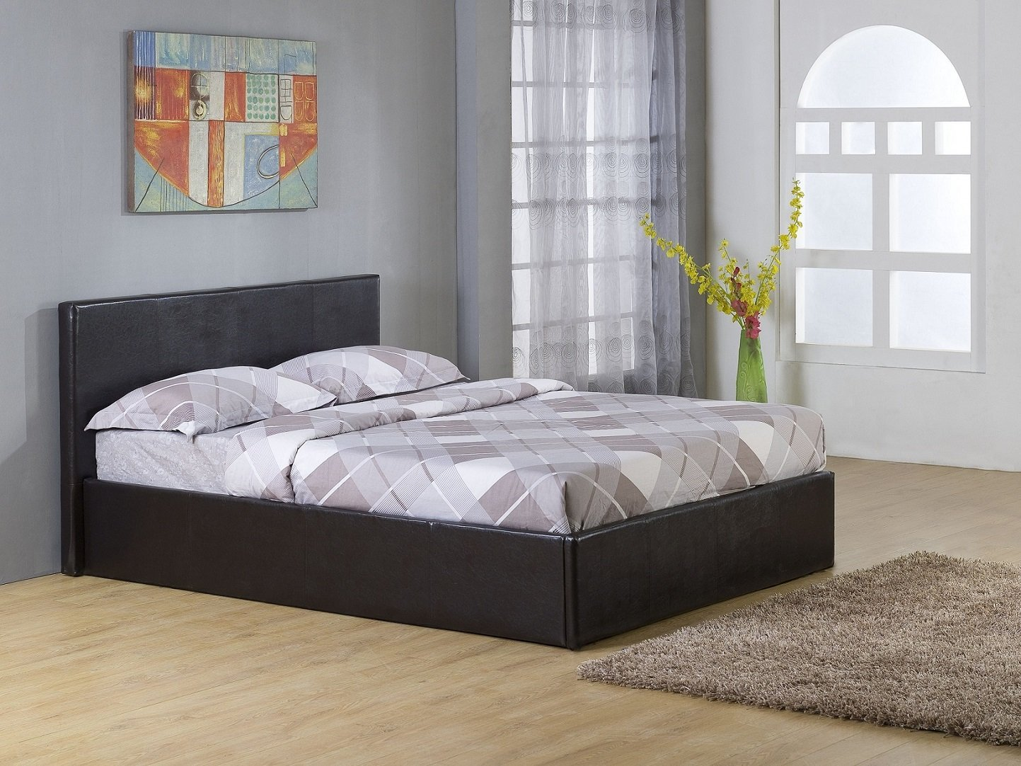Image of: King Storage Beds Size
