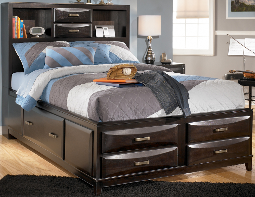 Image of: Kira Queen Storage Bed Reviews