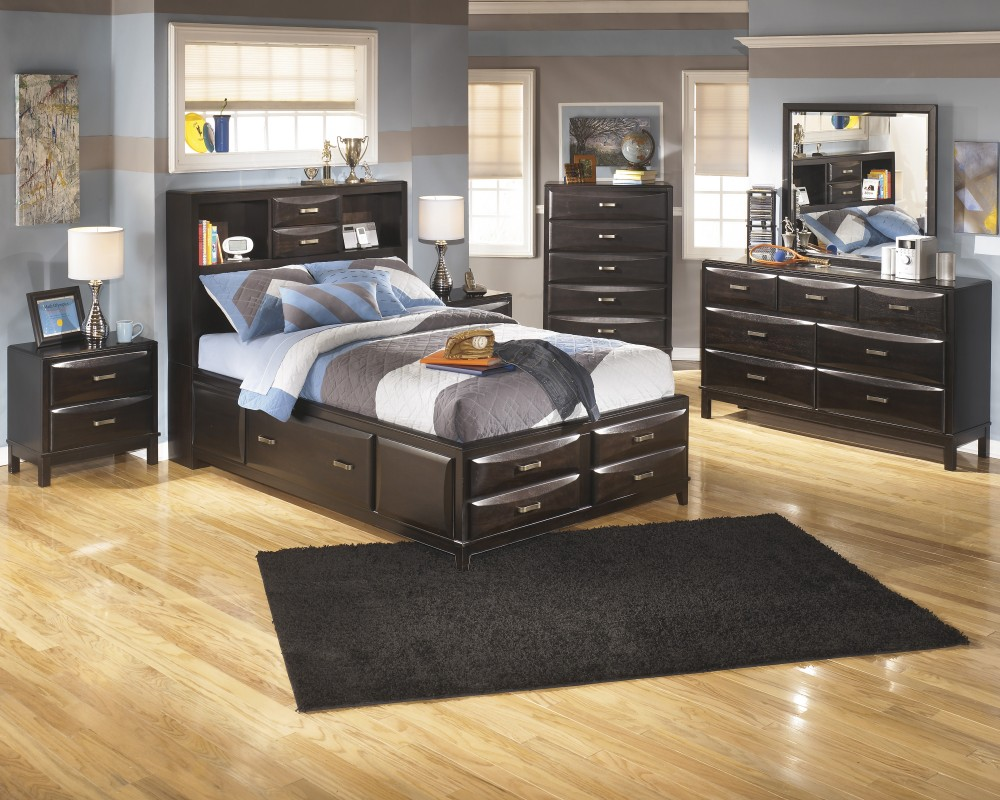 Image of: Kira Queen Storage Bed and Headboard
