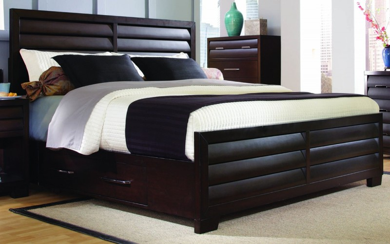 Image of: Kira Queen Storage Bed with Drawers Design