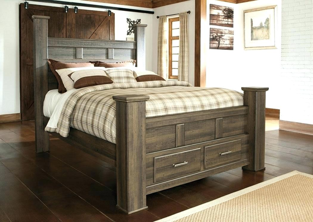 Image of: Kira Queen Storage Bed with Headboard