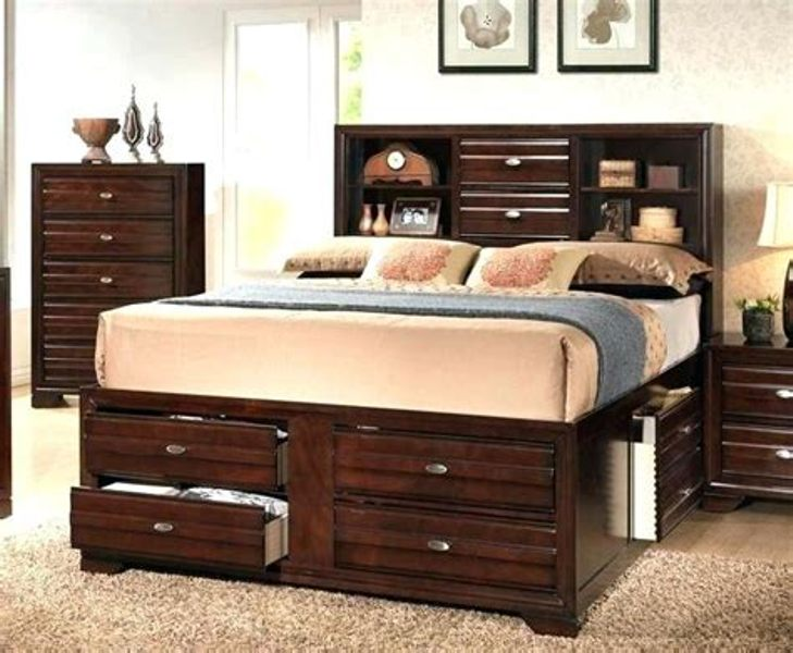 Image of: Kira Queen Storage Bedroom Set