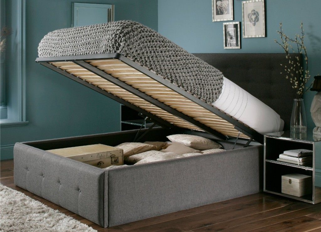 Image of: Large Ottoman Storage Bed