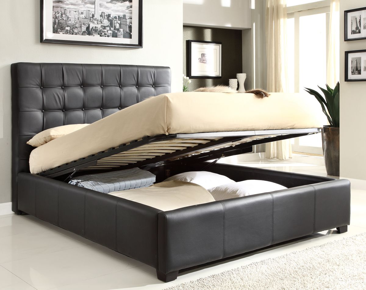 Image of: Leather Best Storage Beds