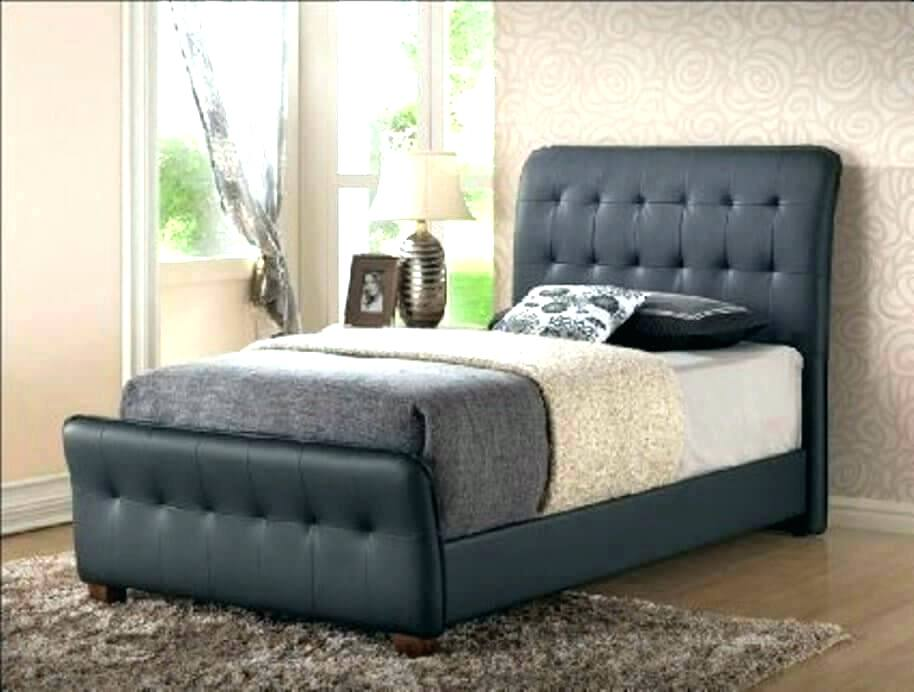 Image of: Leather Xl Twin Bed with Storage