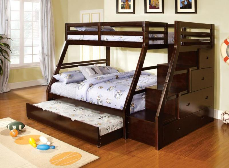Image of: Loft Bed With Trundle And Storage