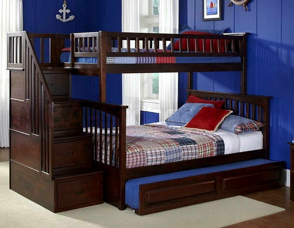 Picture of: Loft Bed with Loft Beds with Storage and Stairs