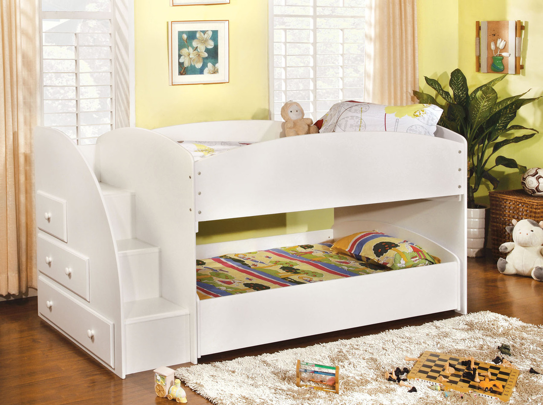 Picture of: Loft Beds with Storage Color