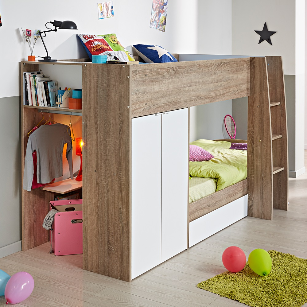 Loft Bunk Bed with Storage
