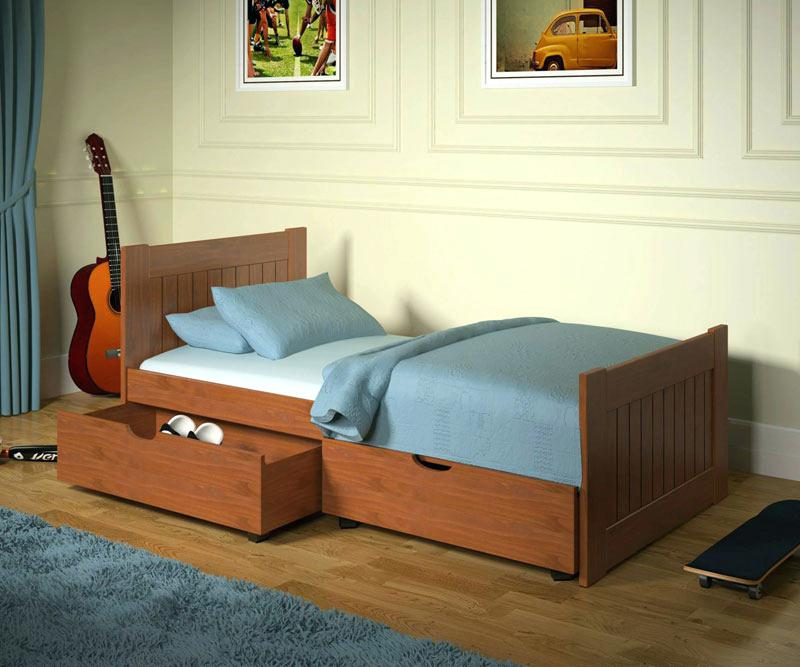 Picture of: Low Twin Captains Bed With Storage