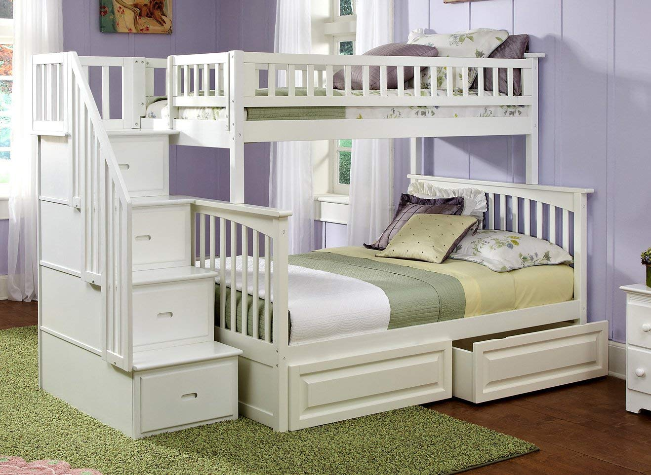Image of: Luxury Twin over Twin Bunk Beds with Storage