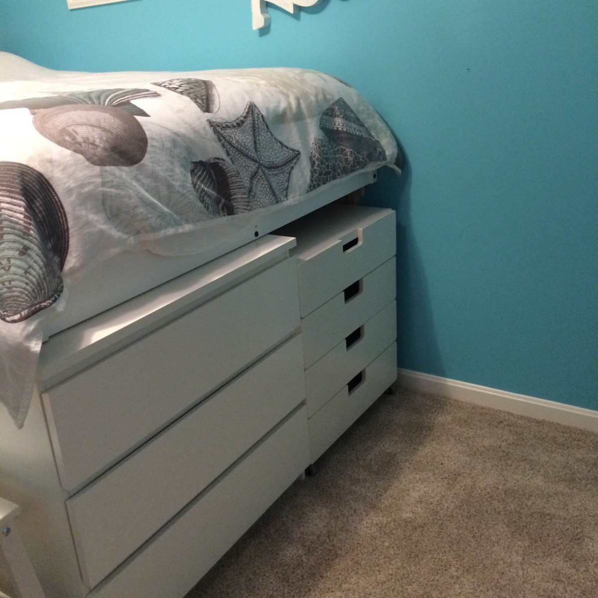 Malm Ikea Hack Storage Bed