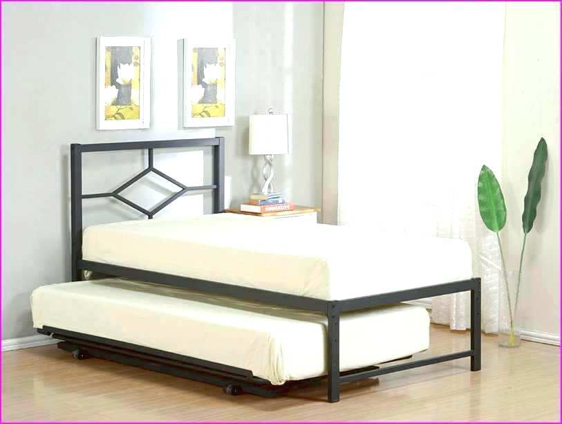 Image of: Metal Xl Twin Bed with Storage