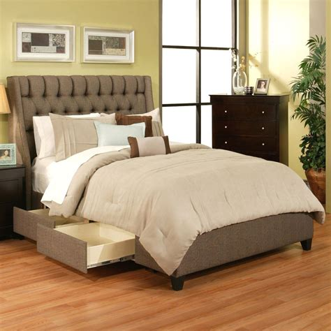 Image of: Modern Cal King Storage Bed
