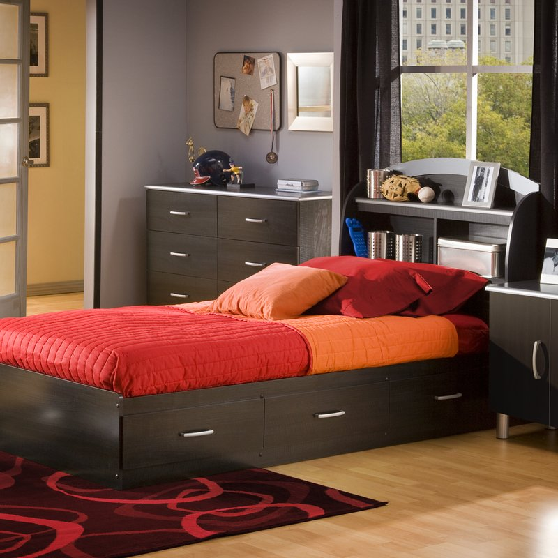 Picture of: Modern Captain Bed With Storage