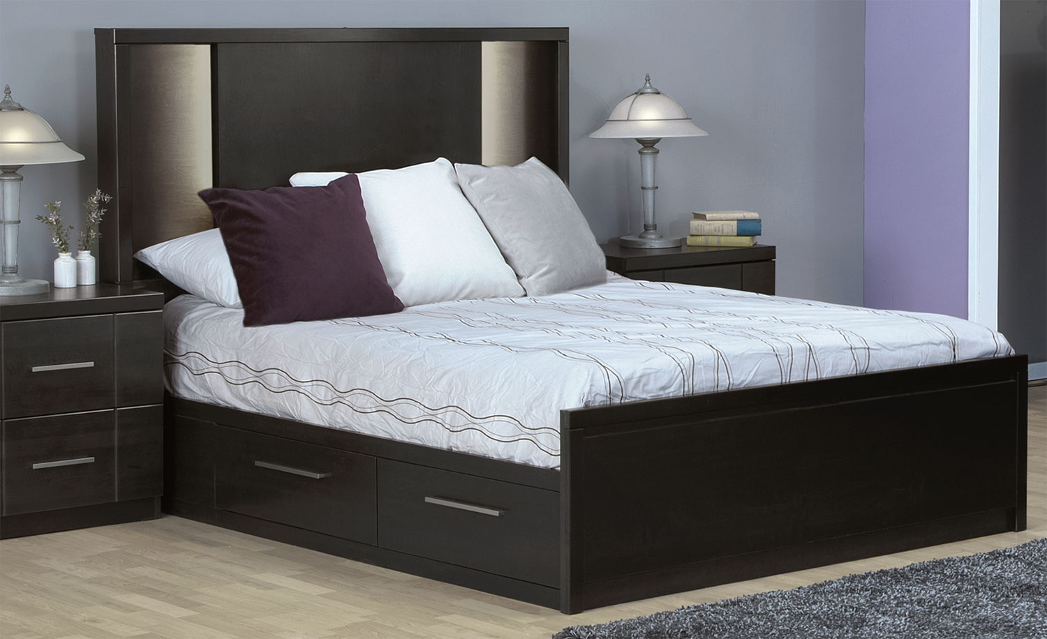 Picture of: Modern Diy Platform Bed with Storage Plans