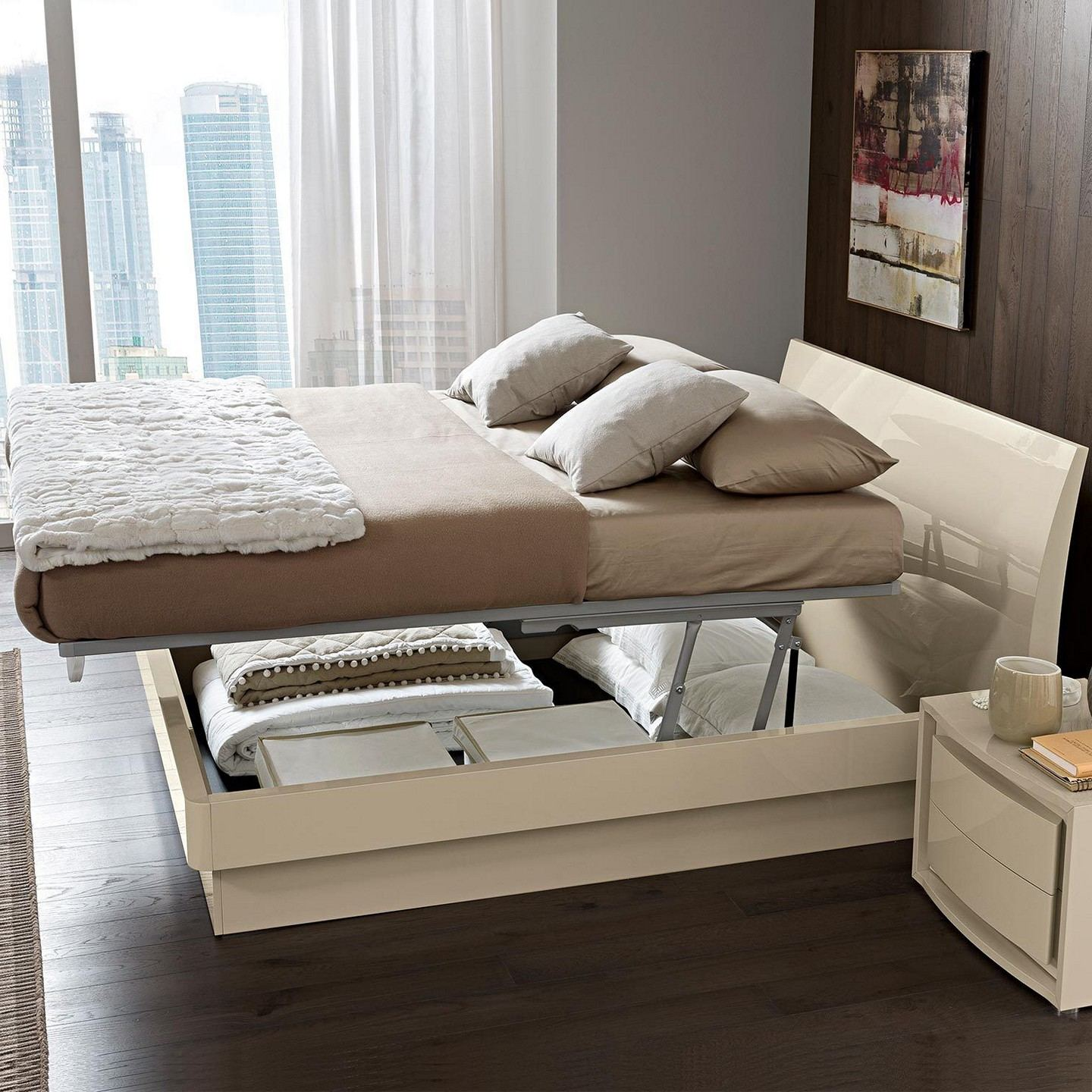 Image of: Modern Full Beds With Storage