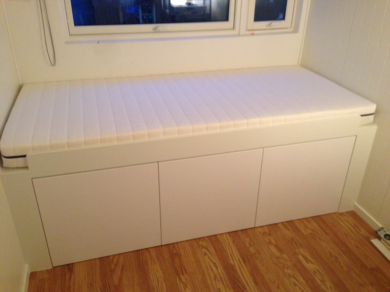 Picture of: Modern Ikea Hack Storage Bed