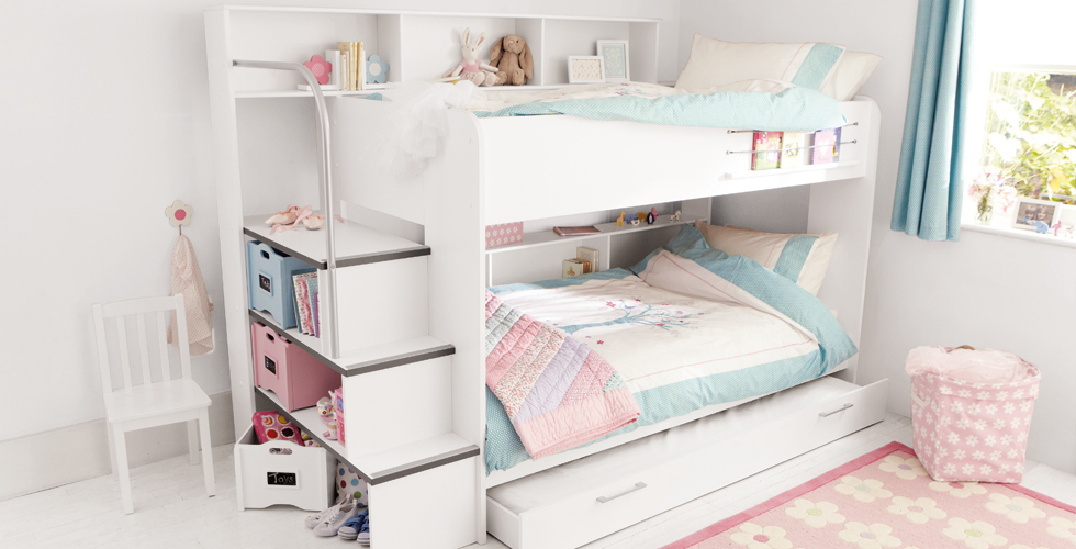 Picture of: Modern Kids Bunk Beds with Storage
