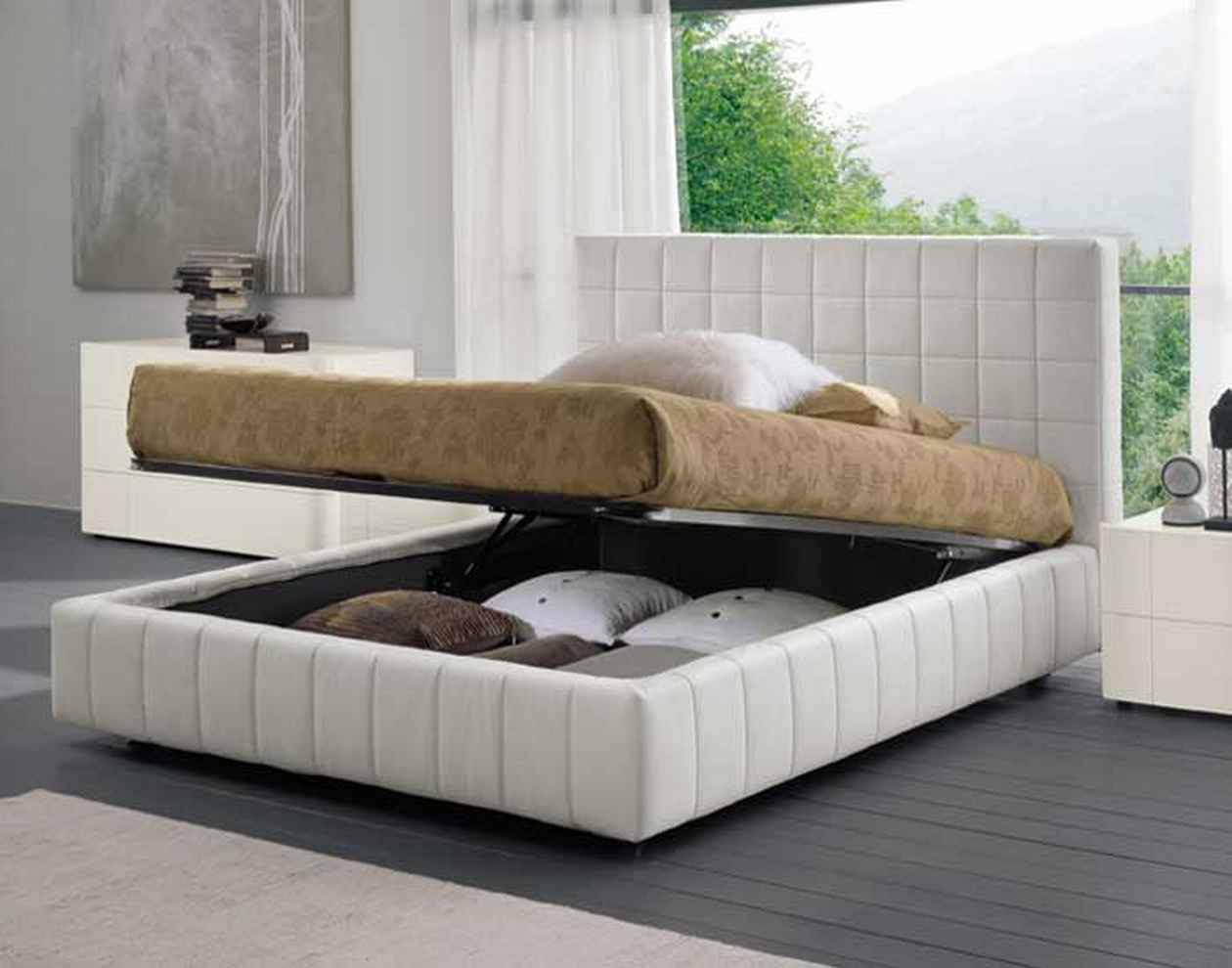 Picture of: Modern Storage Bed in Large Room