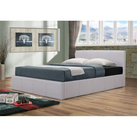 Picture of: Modern White King Storage Bed