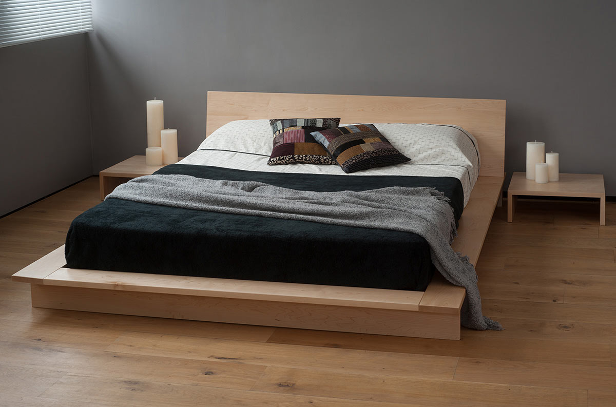 Picture of: Modern Wood Platform Bed With Storage