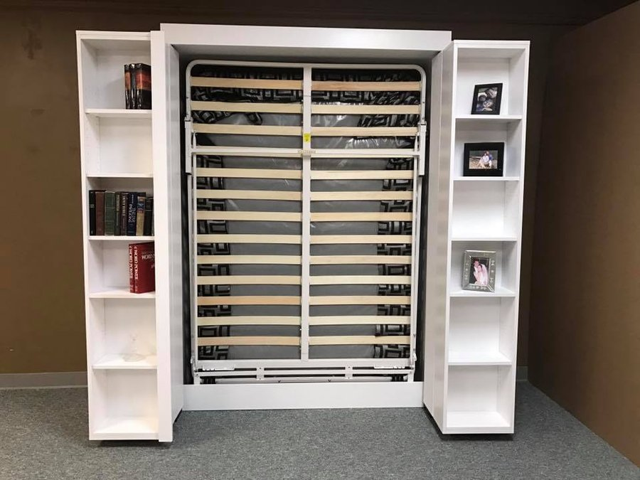 Image of: Murphy Bed With Storage White