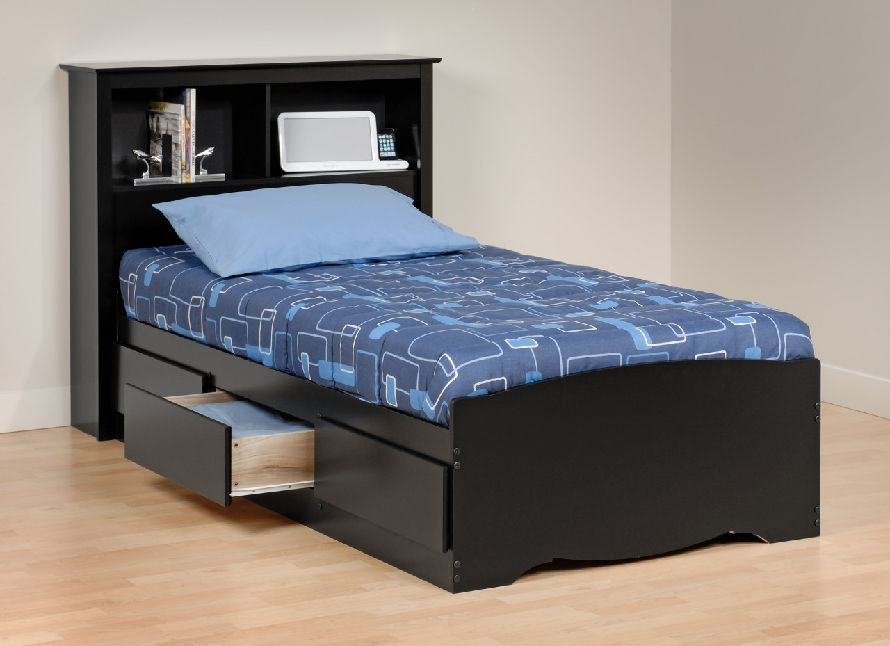 Image of: New Xl Twin Bed with Storage