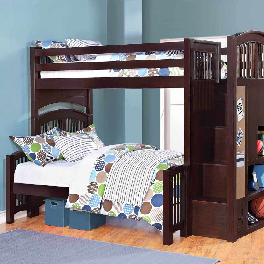 Picture of: Nice Twin over Twin Bunk Beds with Storage