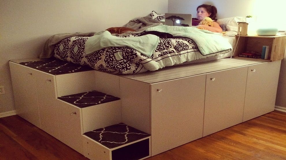 Nomad DIY Queen Bed Frame with Storage