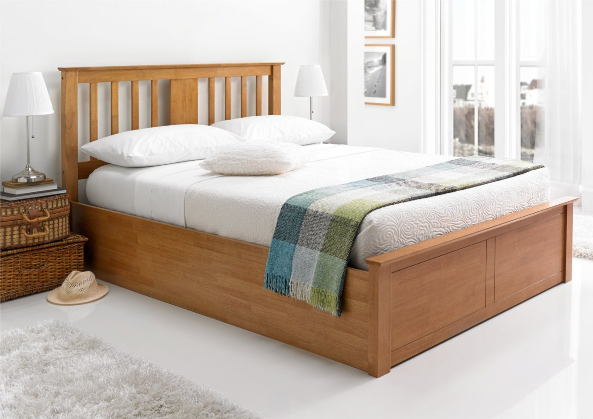 Image of: Oak Storage Bed Plans