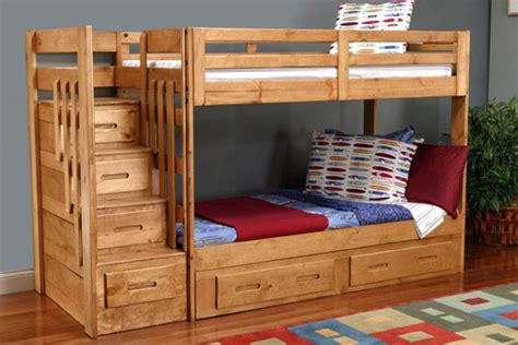 Original Bunk Bed with Storage Stairs