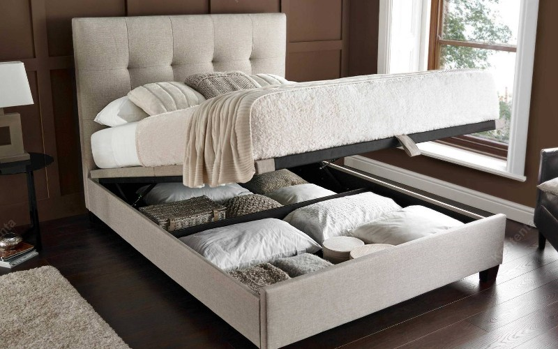 Image of: Ottoman Storage Bed Frame