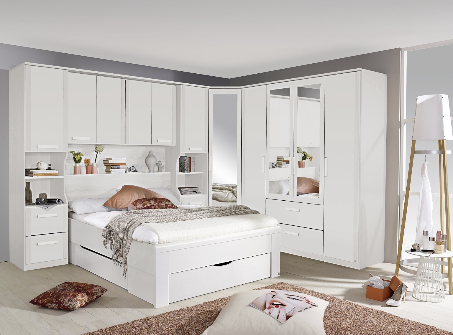 Picture of: Over Bed Storage Color