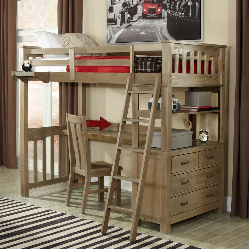 Picture of: Paint Bunk Beds With Storage and Desk