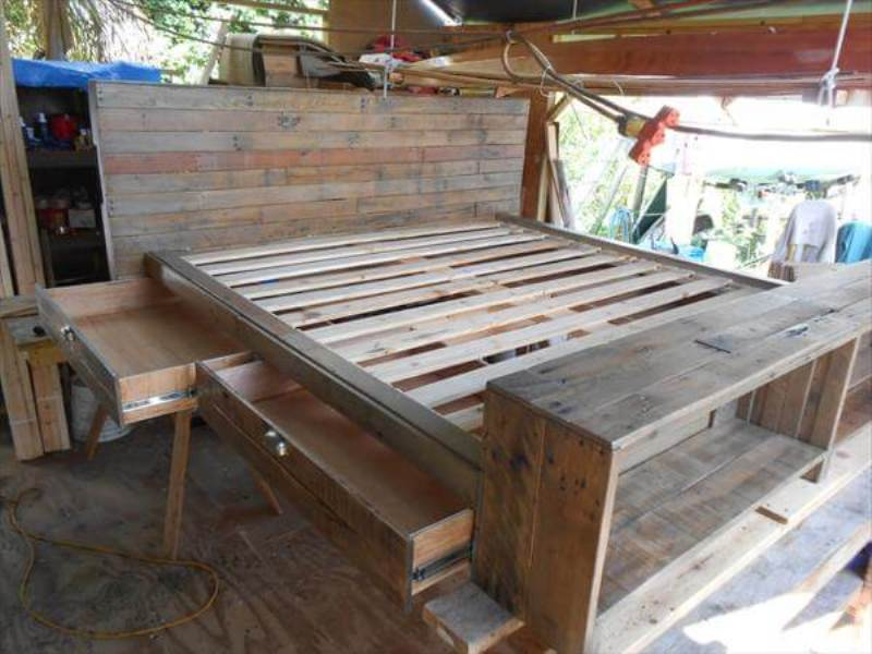 Picture of: Pallet Bed Frame With Storage Instructions