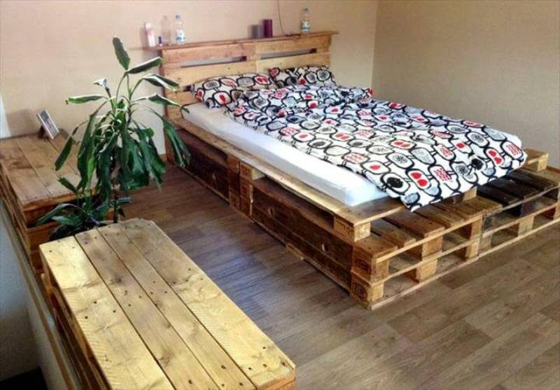 Picture of: Pallet Bed With Storage Plans
