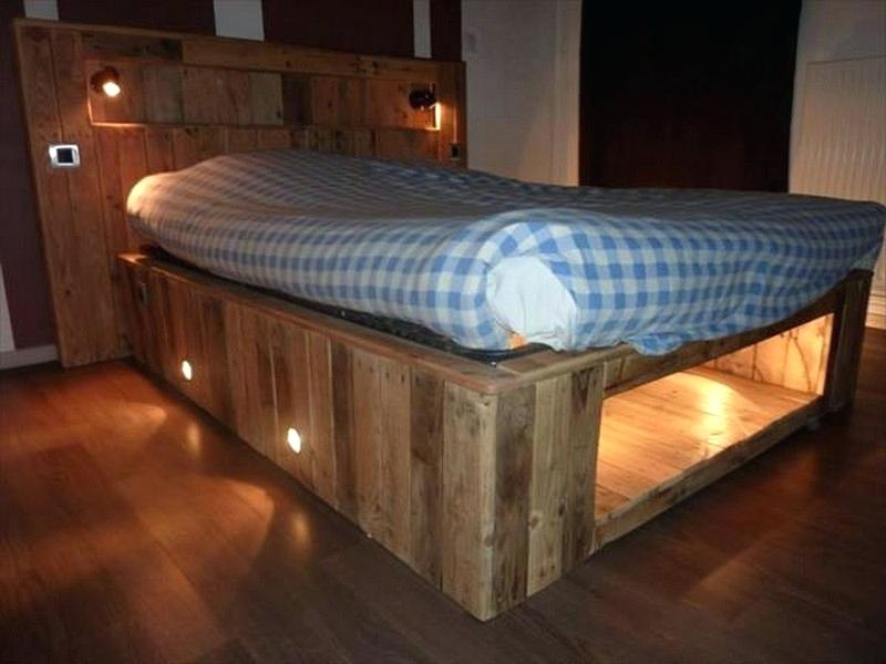 Picture of: Pallet Bed with Storage Model