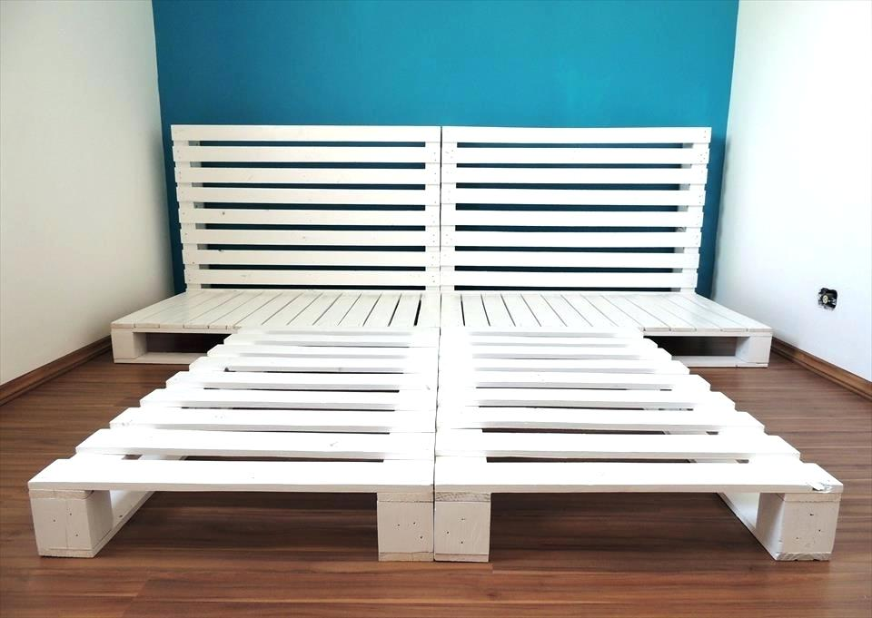 Picture of: Pallet Bed with Storage Paint
