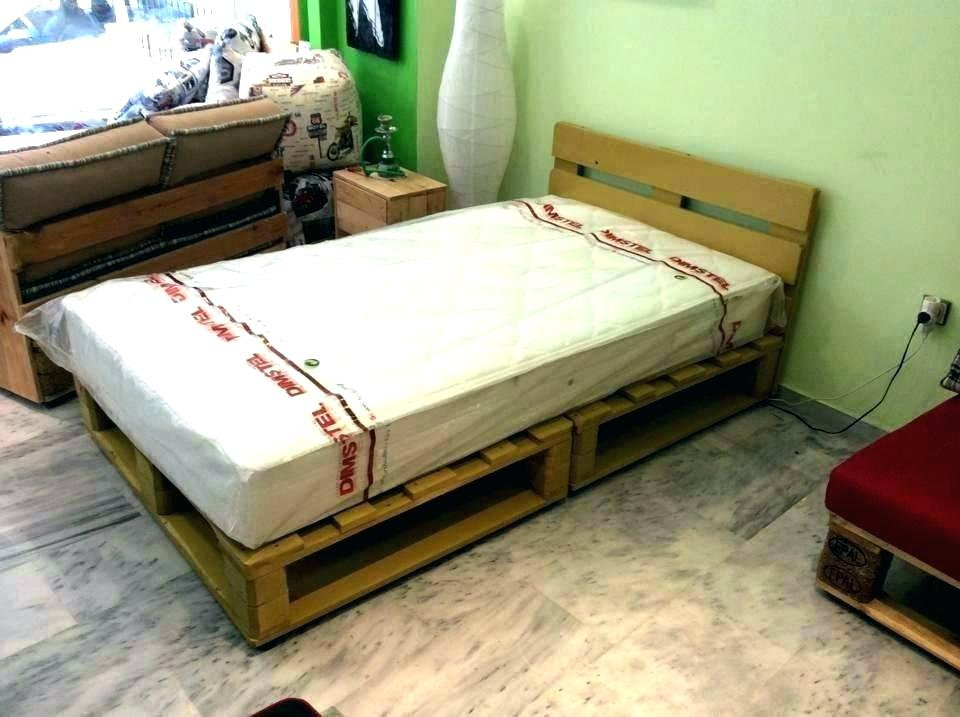 Picture of: Pallet Bed with Storage Small
