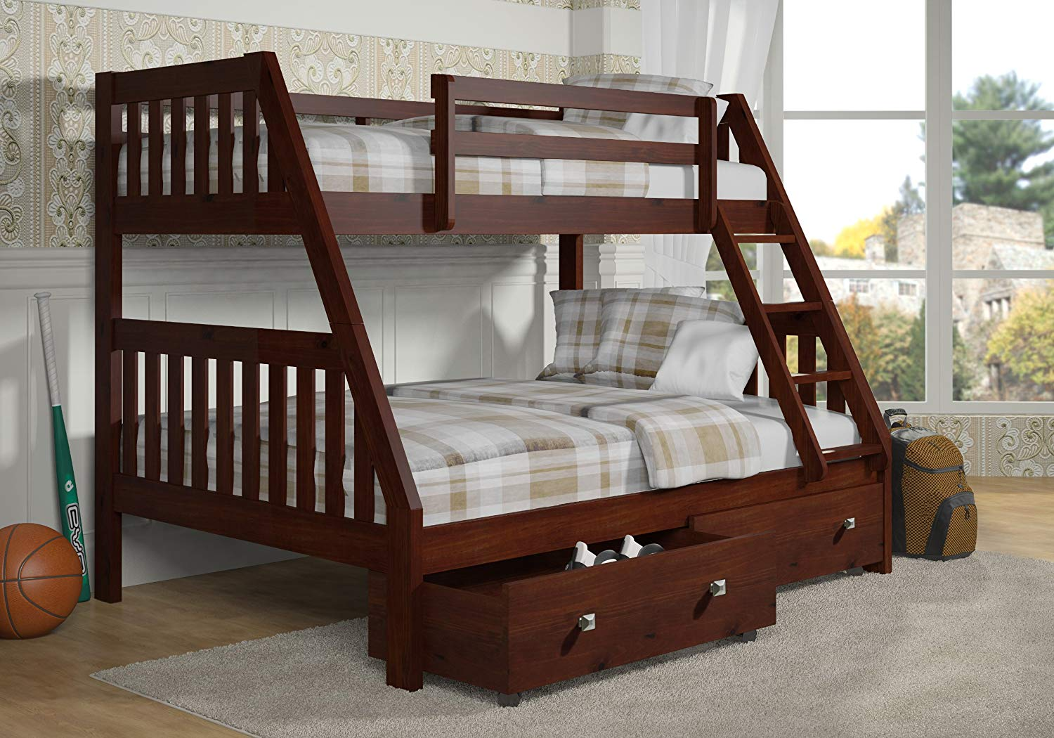 Image of: Perfect Twin over Twin Bunk Beds with Storage