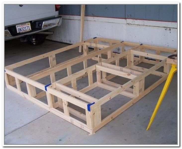 Plans To Build King Size Platform Bed With Storage