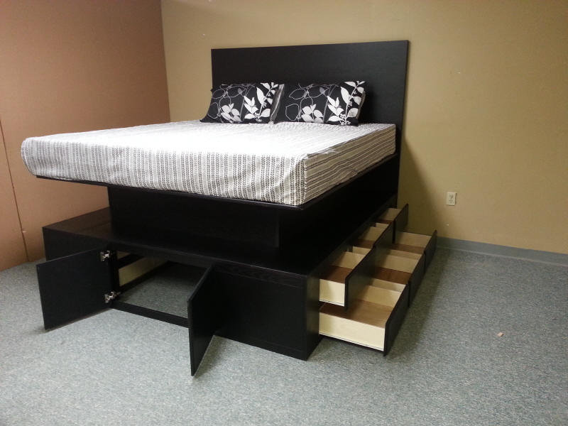 Image of: Platform Storage Bed Queen Type