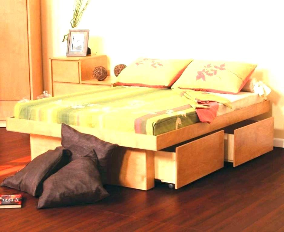 Image of: Platform Xl Twin Bed with Storage
