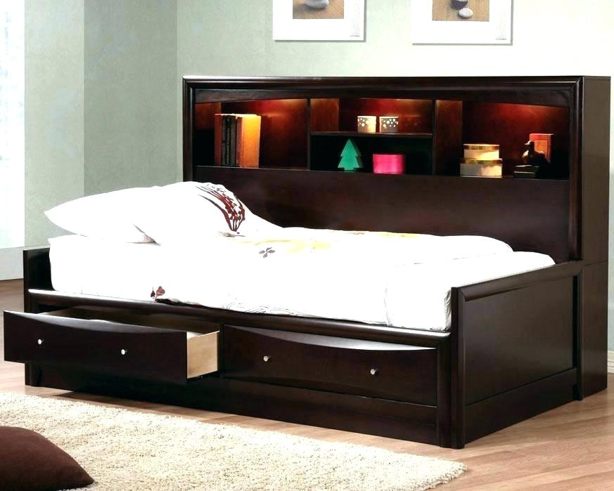 Image of: Popular Full Size Captains Bed With Storage