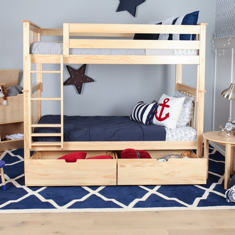 Image of: Pretty Storage Bunk Beds