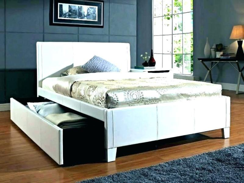 Image of: Queen Bed With Trundle And Storage