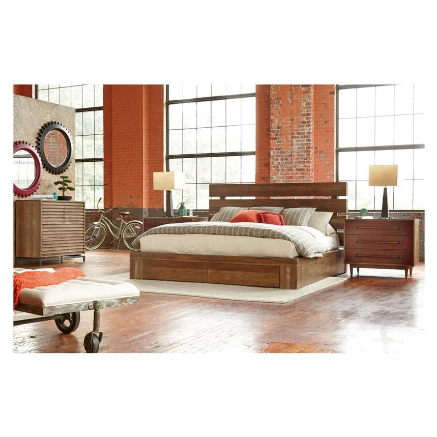 Image of: Queen Solid Wood Storage Bed