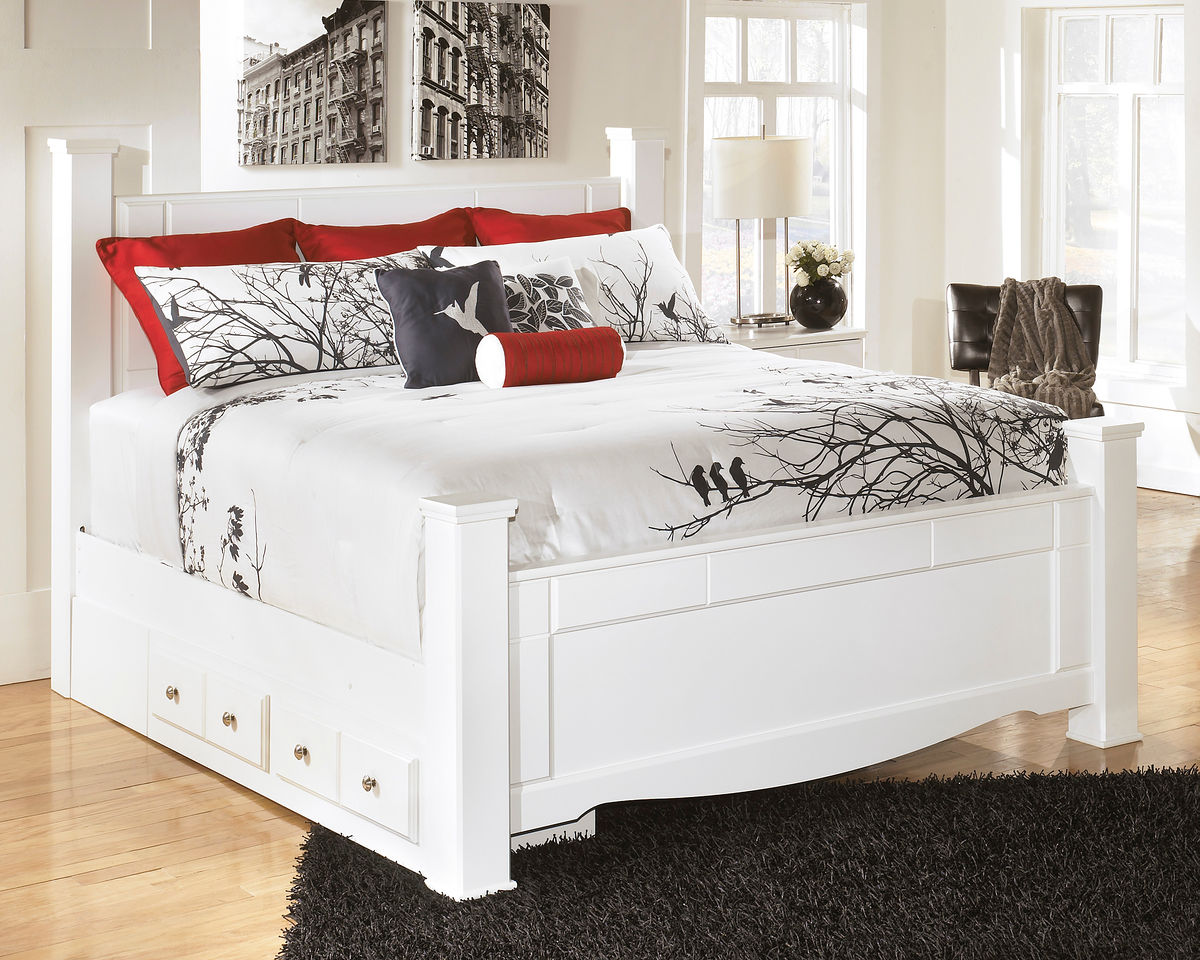 Picture of: Review White King Storage Bed